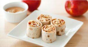 apple peanut butter pinwheels