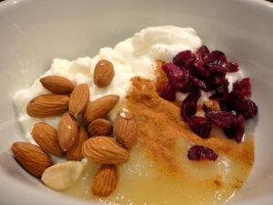 applesauce nuts cranberries